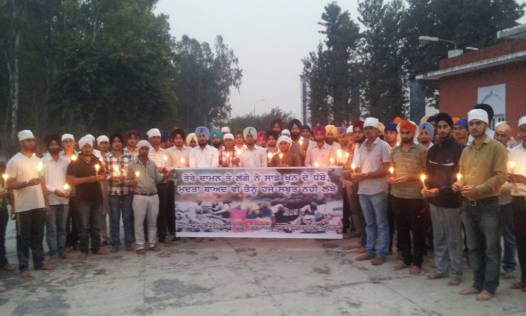 Punjabi University, Patiala - Candle Light Vigil by Sikh Students Federation on November 05, 2012 in the memory of Victims of Sikh Genocide 1984