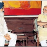 Parkash Singh Badal meets Indian Prime Minister Narendra Modi over HSGPC issue