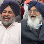 Sukhbir Badal (L) - Parkash Singh Badal (R) [File Photo]