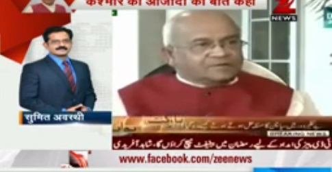 Indian media outcries at Ved Partap Vaidik's statement about Hafiz Saeed and Kashmir's freedom