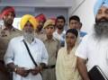 Bhai Balbir Singh Bira alias Bhootna with his wife Sukhjinder Kaur and Advocate Jaspal Singh Manjhpur at Ludhiana Judicial Court complex [August 29, 2014]