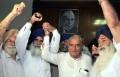 HSGMC (ad hoc) leader with Harayna CM Bhupinder Singh Hooda [File Photo]