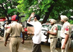 Narain Singh Chaura in police custody