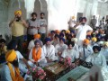 S. Chamkaur Singh, brother of Shaheed Dilawar Singh, honored at Akal Takht on August 31, 2014.