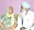 Victim Avtar Singh Gola's mother Charanjeet Kaur (L) and father Amrik Singh (R)