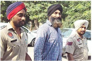 Gurdip Singh Rana in police custody