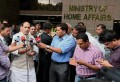 Indian Home Minister Rajnath Singh addressing media. [File Photo]