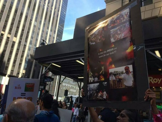 Pictorial narendra modi 39 s madison square garden address mars huge protests demonstrations for Address of madison square garden