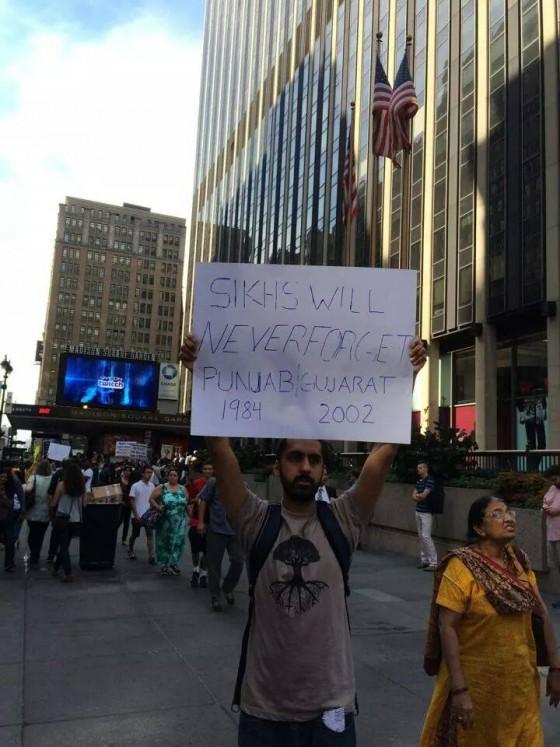 Pictorial Narendra Modi 39 S Madison Square Garden Address Mars Huge Protests Demonstrations