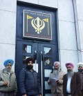 Gurdwara representatives outside Gurdwara Guru Nanak Sahib, Belgium