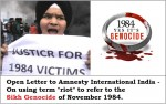Justice for 1984 - open letter to Amnesty International India