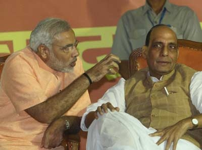 Narendra Modi and Rajnath Singh [File Photo]