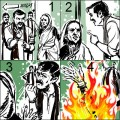 Woman set ablaze for not voting shiv sena