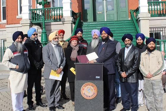 City of Norwich declared month of November as 'Sikh Awareness Day'; Also commemorated 30th anniversary of Sikh Massacres of 1984