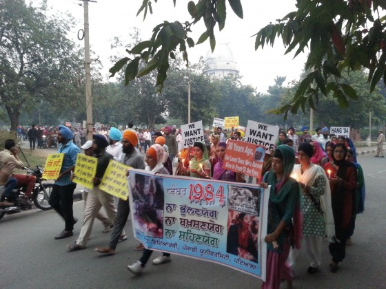 Students of various departments took part in Sikh genocide 1984 remembrance march in Punjabi University