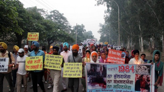 Punjabi University Students remember victims of the Sikh Genocide 1984