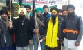 Sikh activists in Tarn Taran mark India's republic day as Black Day on 26 January 2015.