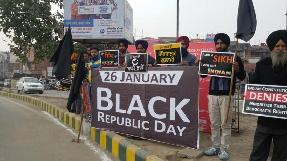 Sikh activists mark India's republic day as Black Day