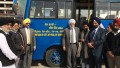 EcoSikh Team Launching Bus with Baba Kulwant Singh and others