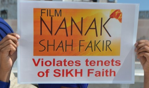 Jatha Neelian Faujan protest against Nanak Shah Fakir movie [File Photo]