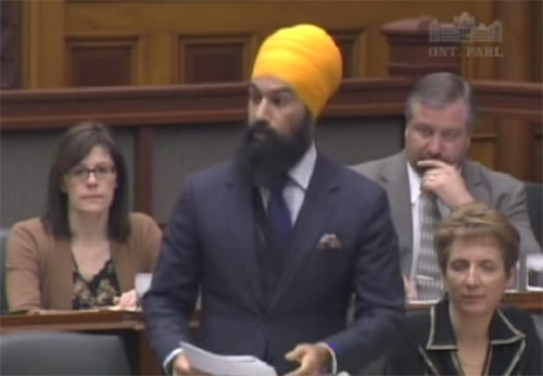 MPP Jagmeet Singh [File Photo]