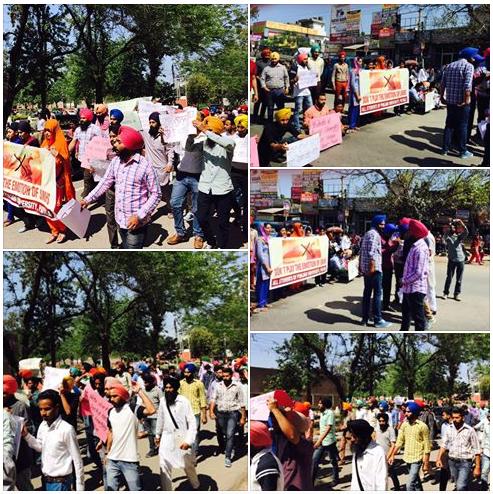 Punjabi University students hold massive protest against Nanak Shah Fakir Movie