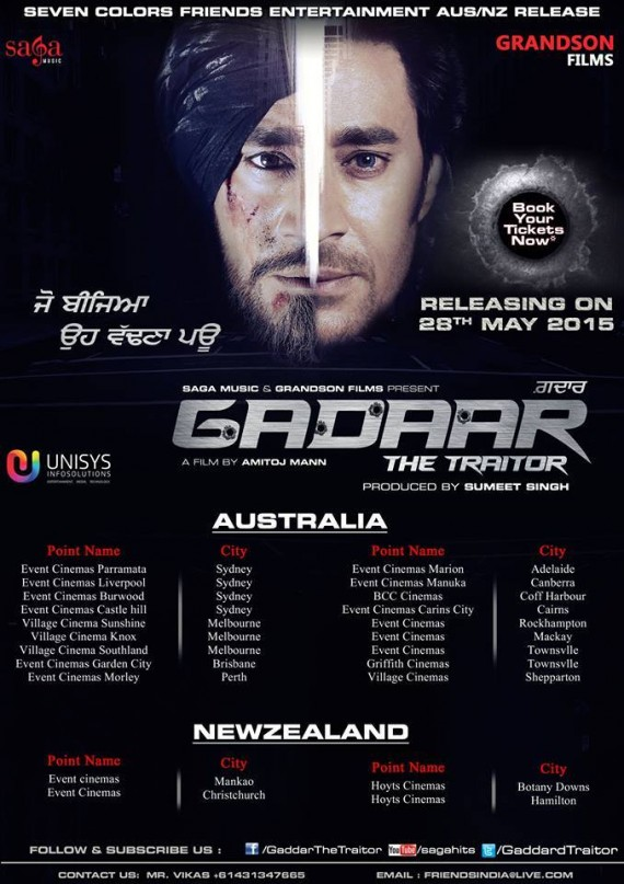 Gadaar The Traitor - Listings for New Zealand and Australia