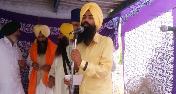 SYF leader Pappal Preet Singh addressing the gathering