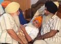 S. Harcharan Singh Dhami (L) and S. Kanwarpal Singh (R) with Bapu Surat Singh (C)