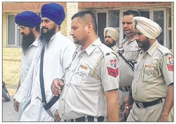 Satikar Committe leader Sukhjit Singh Khosa and another in police custody [File Photo]