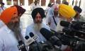 Bhai Kulvir Singh Barapind, Kanwar Pal Singh and Harpal Singh Cheema addressing media