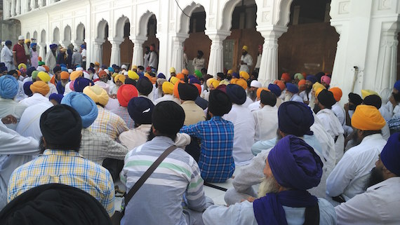 A view of the gathering near Akal Takhat Sahib