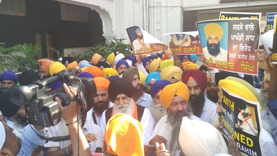 Bhai HS Dhammi, Bhai Kulvir Singh Barapind and others talking to media reports