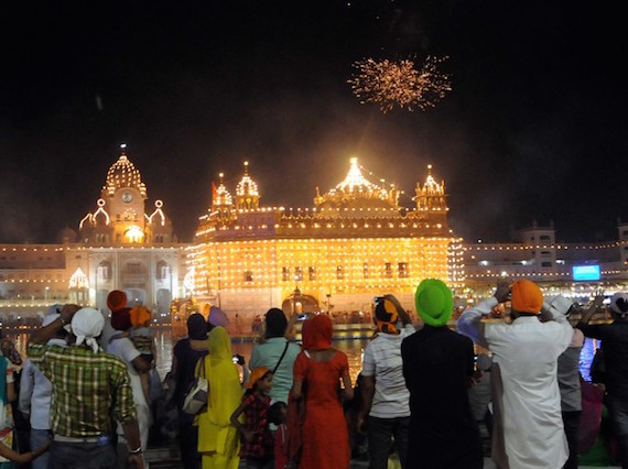 Another view of fireworks at Darbar Sahib