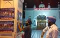 Sikh youth activists pasting posters calling to boycott Jathedars