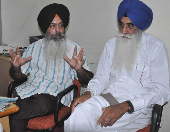 Kanwarpal Singh And Harpal Singh Cheema while talking to media