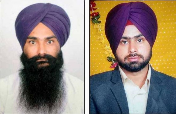Bhai Krsishan Bhagwan Singh and Bhai Gurjeet Singh, who were killed in police firing at Behbal Kalan in October 2015