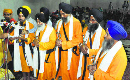 [File Photo of Akal Takhat Panj Pyaras]