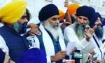 Bhai Dhian Singh Mand addressing outside Akal Takhat Sahib