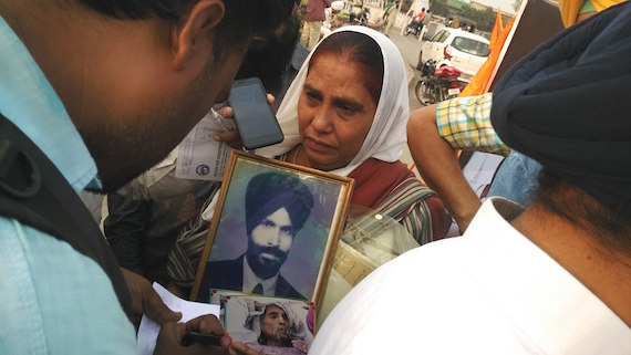 A survivor of Sikh genocide 1984 talking to the media persons in Amritsar [File Photo used for representational purpose only]