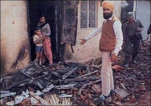 Sikhs houses were burnt during November 1984 Sikh Genocide [File Photo]