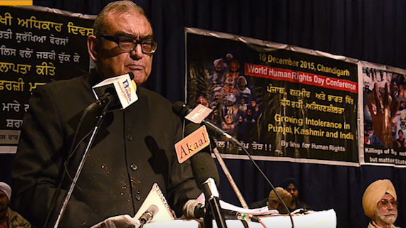 Justice Markandey Katju addressing a conference at Chandigarh on World Human Rights Day