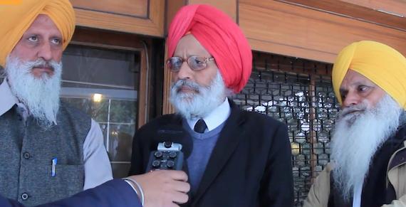 Amar Singh Chahal talking to the Sikh Siyasat News (SSN) at Chandigarh