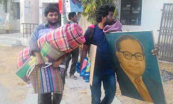 Dalit students who were suspended from UoH | Image used for representational purpose only