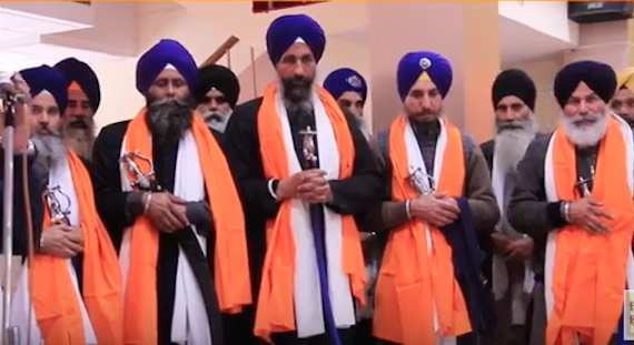 Akhand Kirtani Jatha and the Sikh Relief UK honours Bhai Satnam Singh and other four Singhs