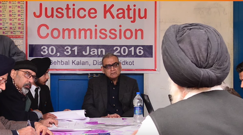 People's Commission headed by Justice Markandey Katju recording statements of eye-witnesses of Behbal Kalan police firing [File Photo]