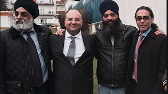 Paramjit Singh Pamma with his legal defense team in Portugal [File Photo]