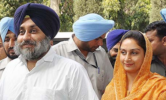Sukhbir Badal and Harsimrat Badal [File Photos]