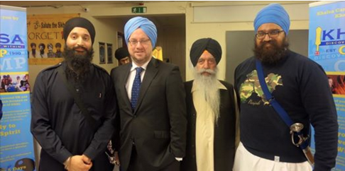 Rob Wilson, MP for Reading East, dons in Turban
