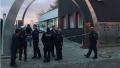 Police outside Gurdwara Nanaksar Essen, Germany